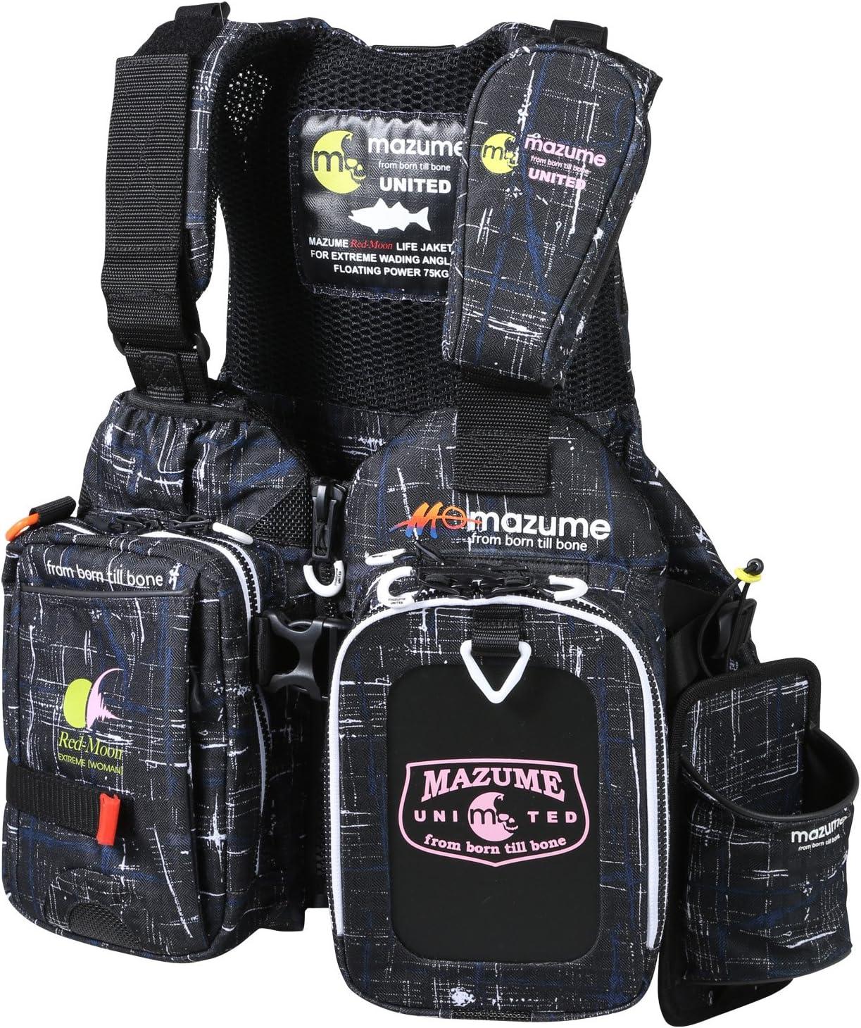 MAZUME(マズメ) レッドムーンライフジャケット WOMAN & JUNIOR MZLJ-364-02 ブラックカスリ F