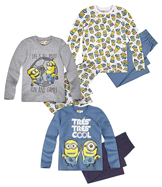 Minions Despicable Me Chicos Pijama 2016 Collection - Azul marino: Amazon.es: Ropa y accesorios