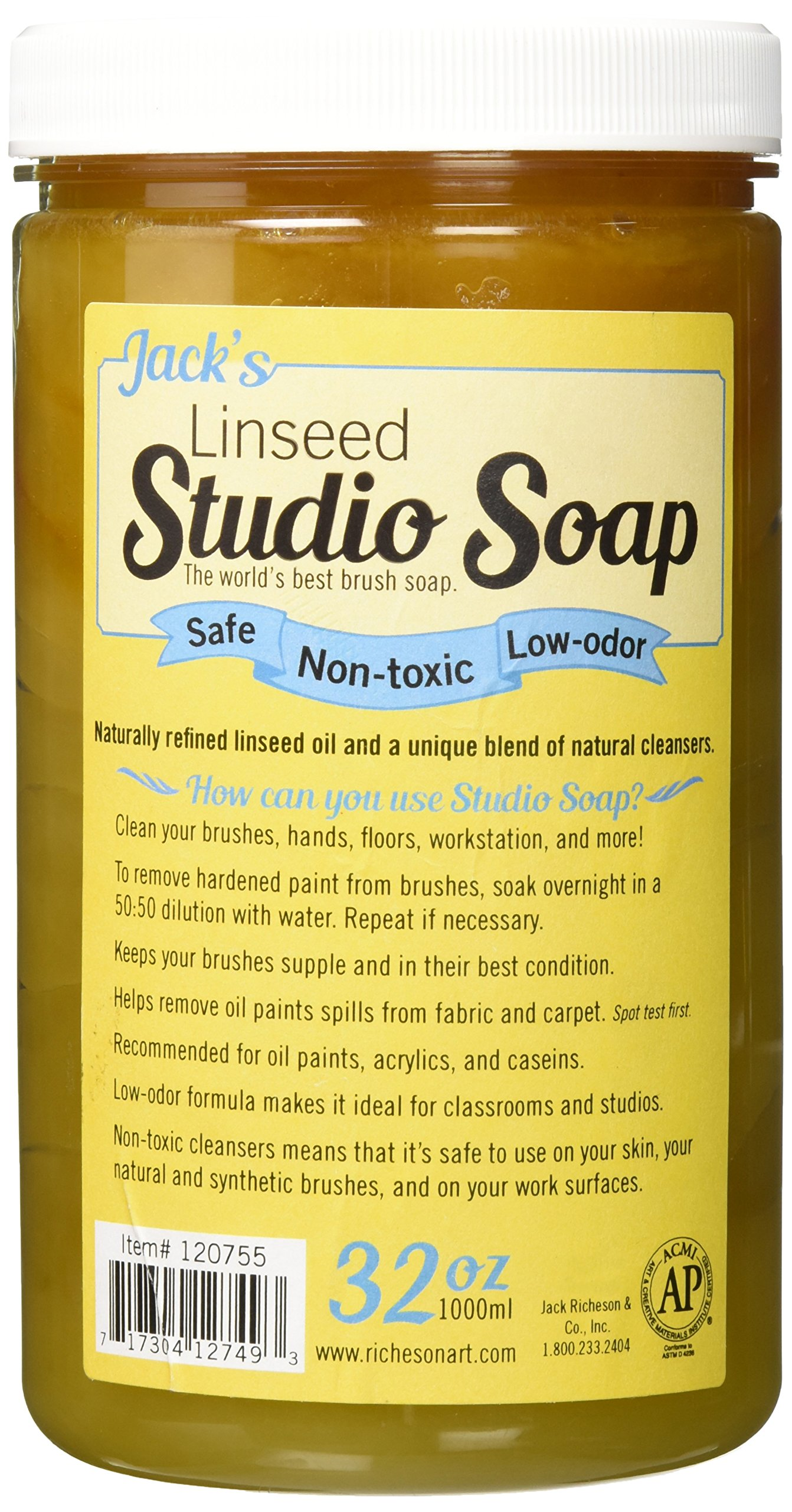 Jack Richeson 120755 1000 ml Linseed Studio Soap by Jack Richeson