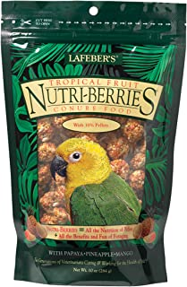 product image for LAFEBER'S Tropical Fruit Nutri-Berries Pet Bird Food, Made with Non-GMO and Human-Grade Ingredients
