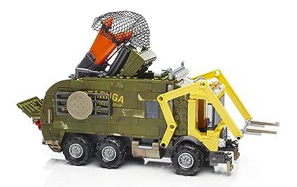 Mega Bloks - Furgoneta de Combate Luces y Sonidos, Tortugas Ninja, Juego de construcción (Mattel DPF82)