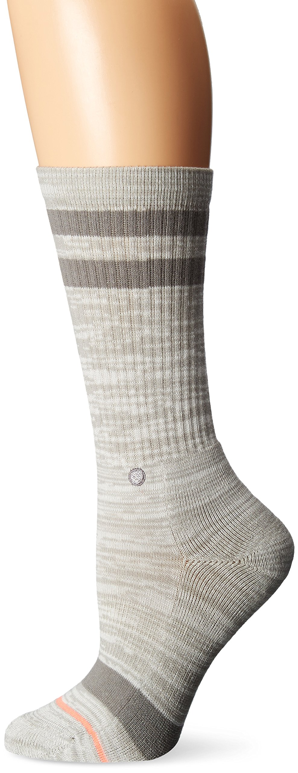Stance Women's Uncommon Classic Crew Sock, Grey, Medium