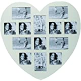 Out of the Blue Heart Multi Aperture Photo Frame, White, X-Large