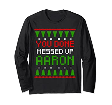 unisex you done messed up aaron ugly christmas sweater gift small black