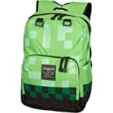 JINX Minecraft Creeper Kids School Backpack, Green, 18""