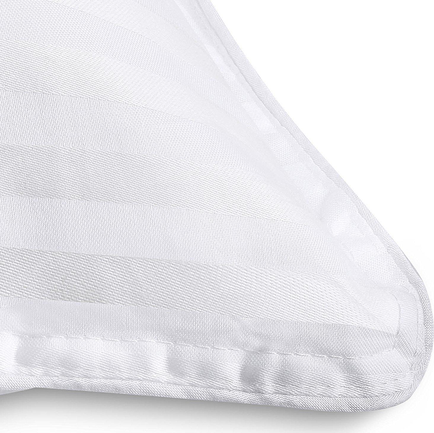 Premium Super Plüsch Plüsch Plüsch Fiber gefüllte Kissen - (2er Packung) - Pure Cotton, T-240 Mercerized Shell, 3D Hollow Silikon-Material - von Utopia Bettwäsche (Standard 74x48cm) - Größe Nicht für DE 4e3f38