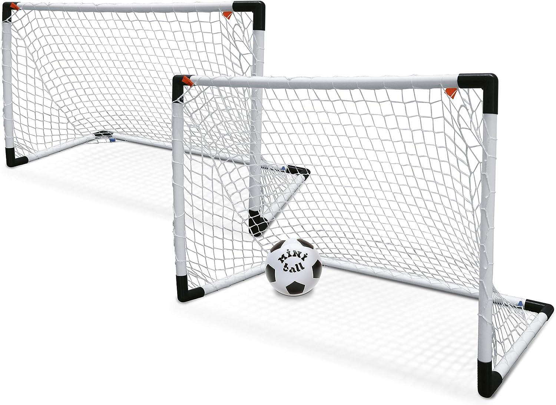 Mondo - Set de 2 Mini porterías para fútbol y balón (18014)