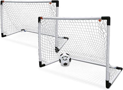 Mondo - Set de 2 Mini porterías para fútbol y balón (18014): Amazon ...