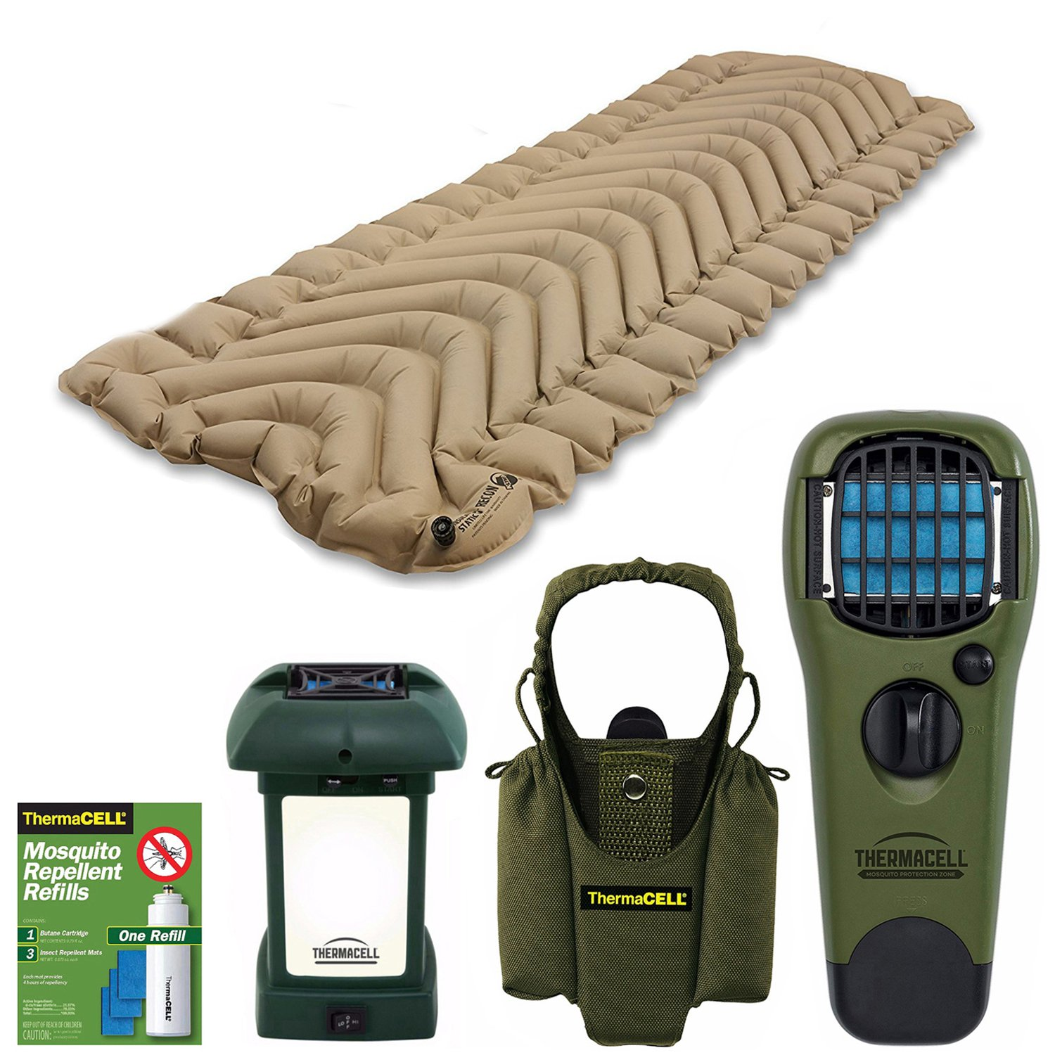 Klymit Insulated Static V Sleeping Pad + electronic mosquito repellant + Bundle