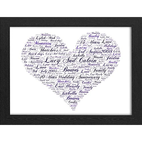 personalised frames with words amazon co uk