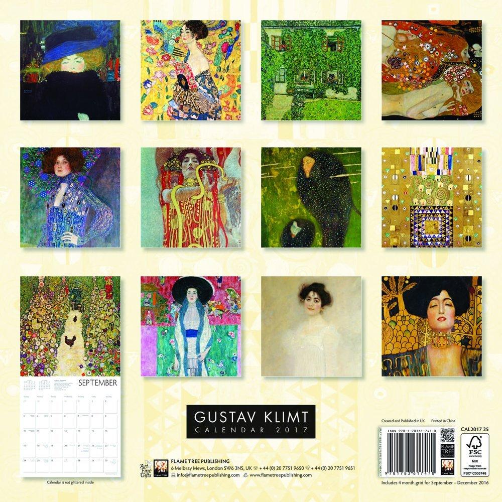 Gustav Klimt wall calendar 2017 (Art calendar) (Square): Amazon.co.uk:  Flame Tree Publishing: 9781783617470: Books