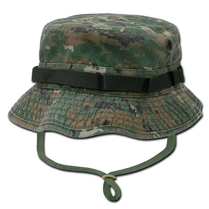 d42e87c340c4c Decky Military Drawstring Boonie Bucket Hat (Woodland Digital Camouflage