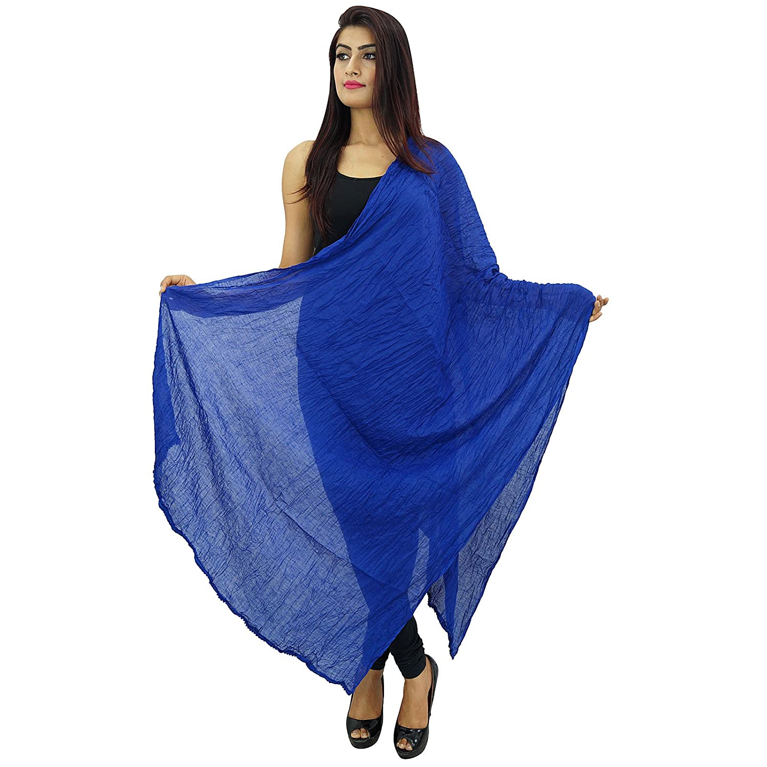 Long Cotton Voile Dupatta Stole Women Neck Wrap Indian Scarves Chunni