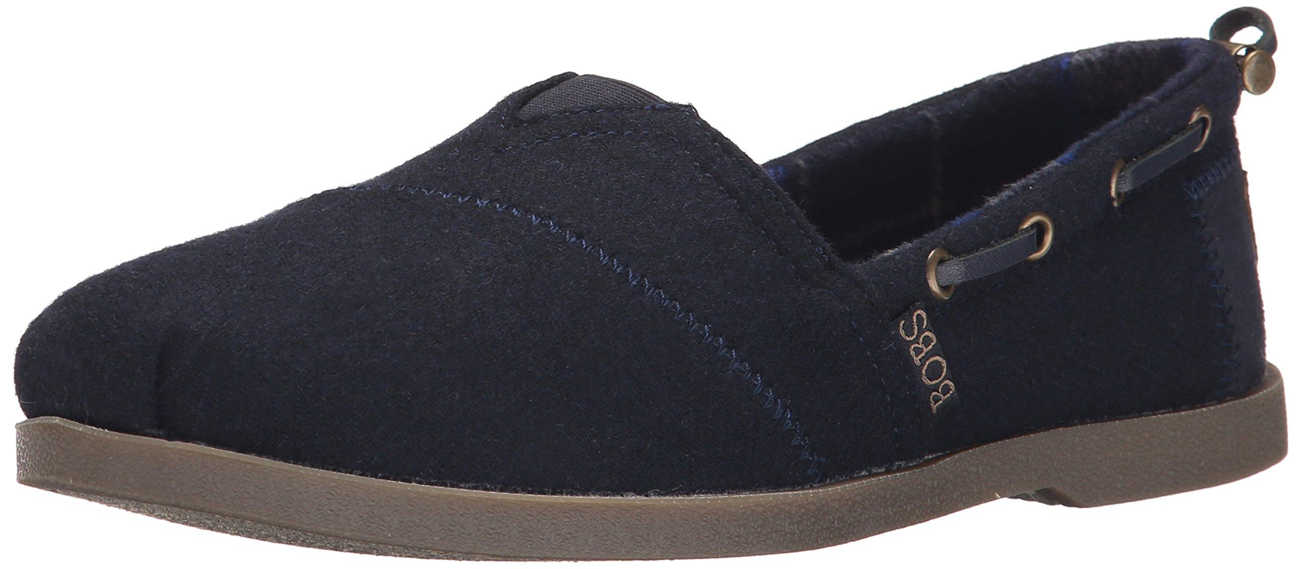 BOBS from Skechers Women's Chill Luxe Shoe, Navy Wool, 7.5 M US