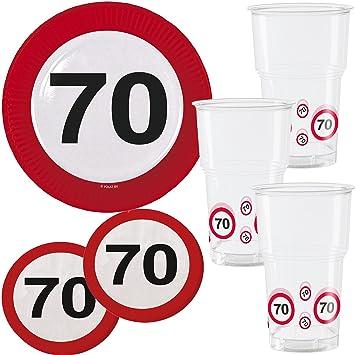 39 piezas Party * 70 cumpleaños * con señal de tráfico de ...
