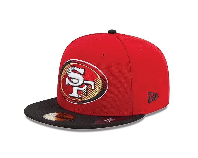 Amazon.com   NFL San Francisco 49Ers Edge Flare 5950 Fitted Cap ... ae473fe5d