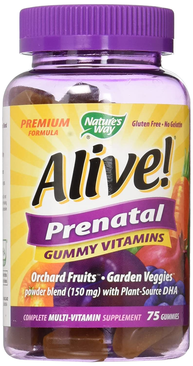 Alive! Prenatal Gummies, 75 Ct by Nature's Way (Pack of 2) Nature' s Way 10482