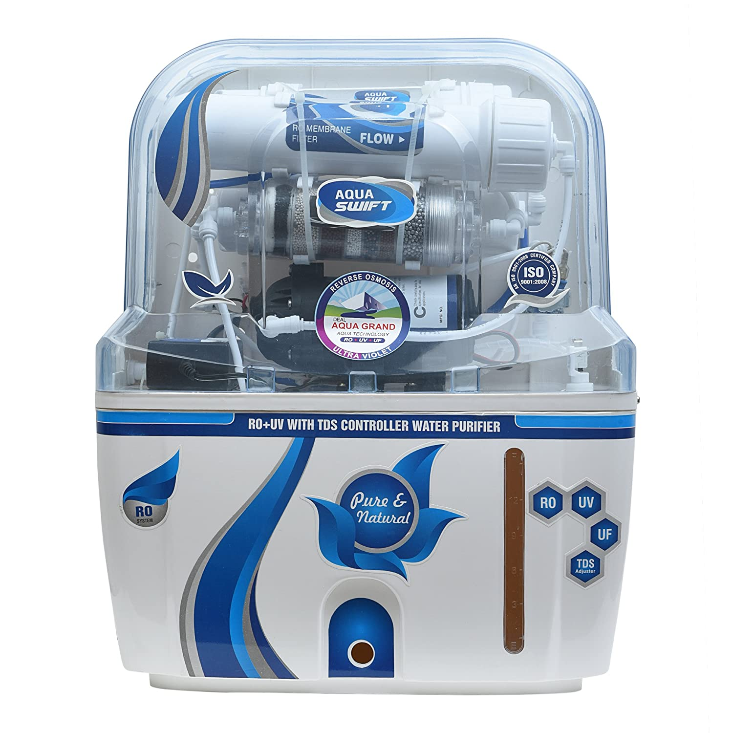 af360f3a2 Deal Aquagrand Aqua Swift RO Water Purifier UF UV MINERAL TDS Controller  with Alkaline Technology