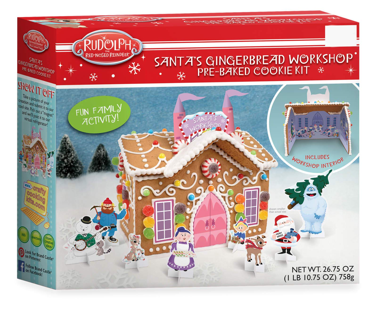 Santa's Workshop Holiday Gingerbread Cookie Kit - 26.75 oz (1 PACK)