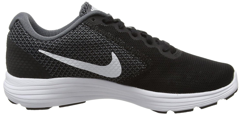 Nike Damen Revolution 3 Laufschuhe, Grau (Dark Grey/White/Black 001), 38.5 EU
