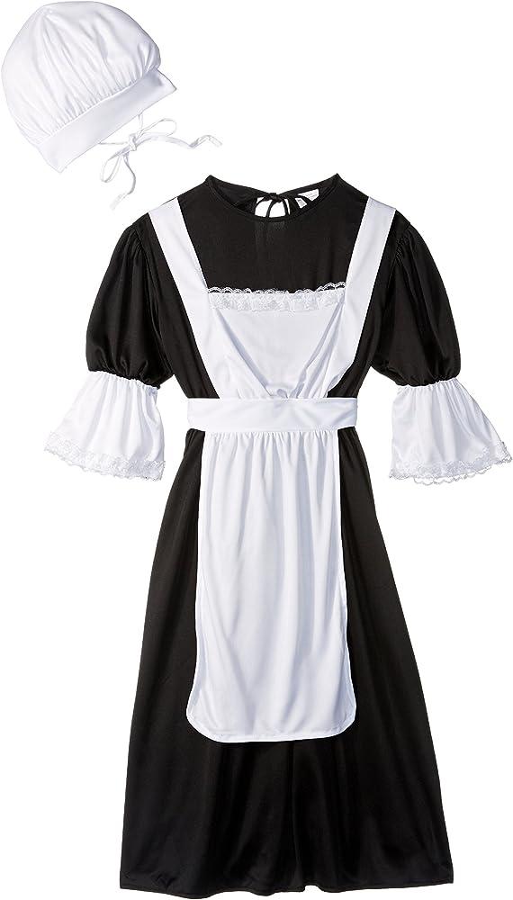 Amazon.com: Disfraz de peregrina para niña, L, Negro ...