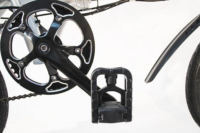 SK8 eBike Urban Beetle Bicicleta eléctrica plegable, Blanco: Amazon.es: Deportes y aire libre
