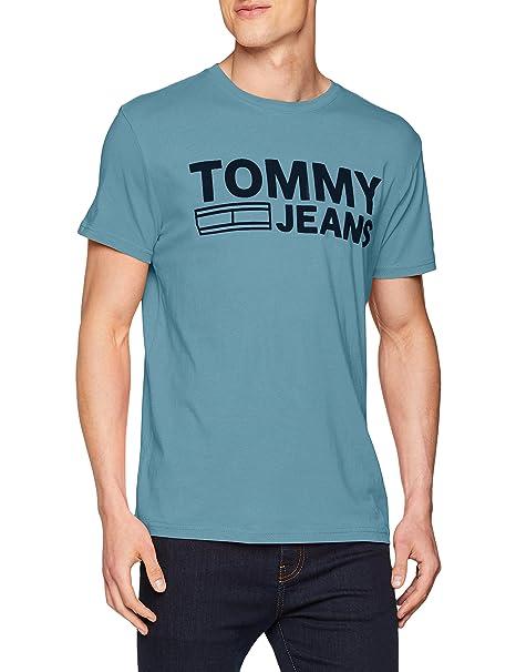 TJM Essential Logo tee, Camiseta sin Mangas para Hombre, Azul (Air Blue 424), Small Tommy Jeans