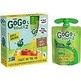 GoGo squeeZ Applesauce, Apple Banana, 3.2 Ounce (48 Pouches), Gluten Free, Vegan Friendly, Unsweetened Applesauce…