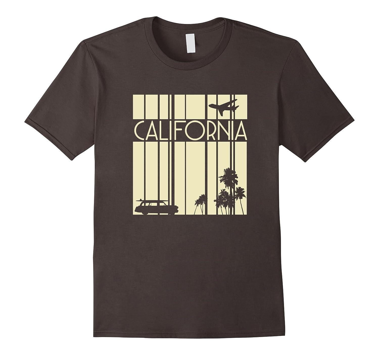 Vintage Style California T Shirt Retro Design Silhouette