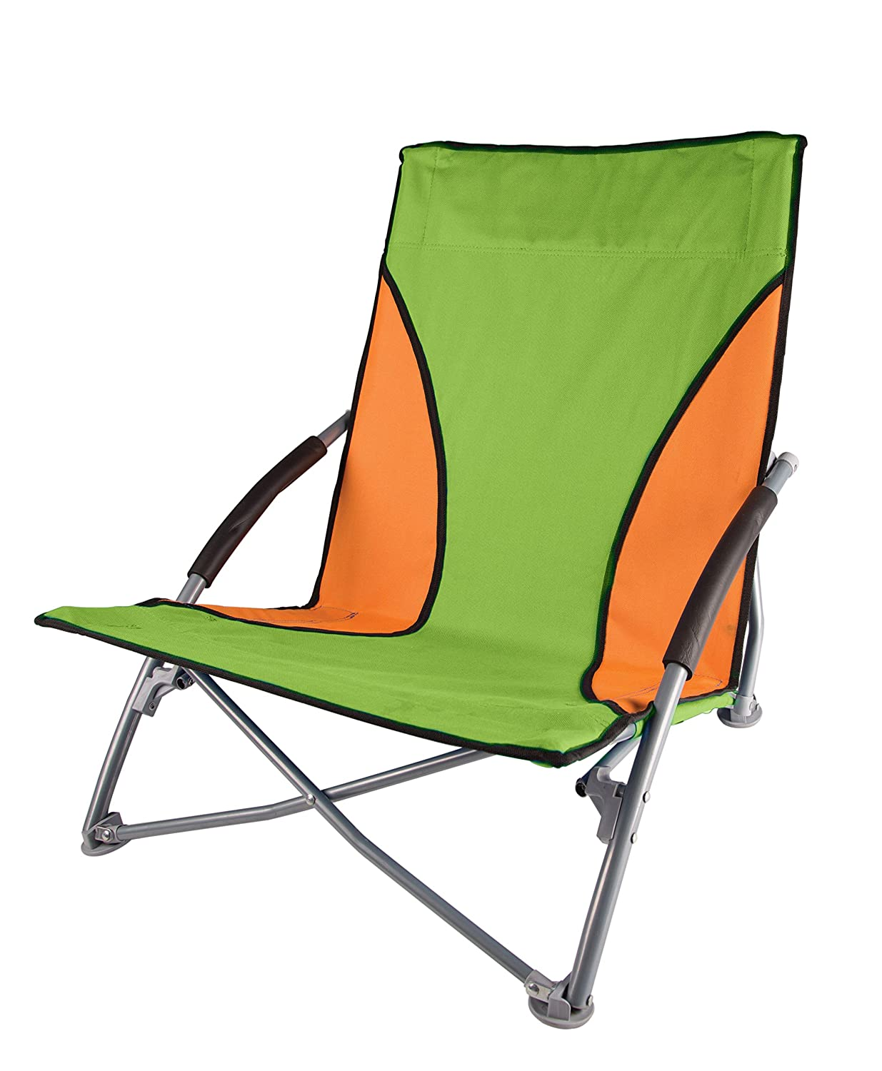 Amazon.com : Stansport Low Profile Fold Up Chair, Blue/Orange : Sports U0026  Outdoors