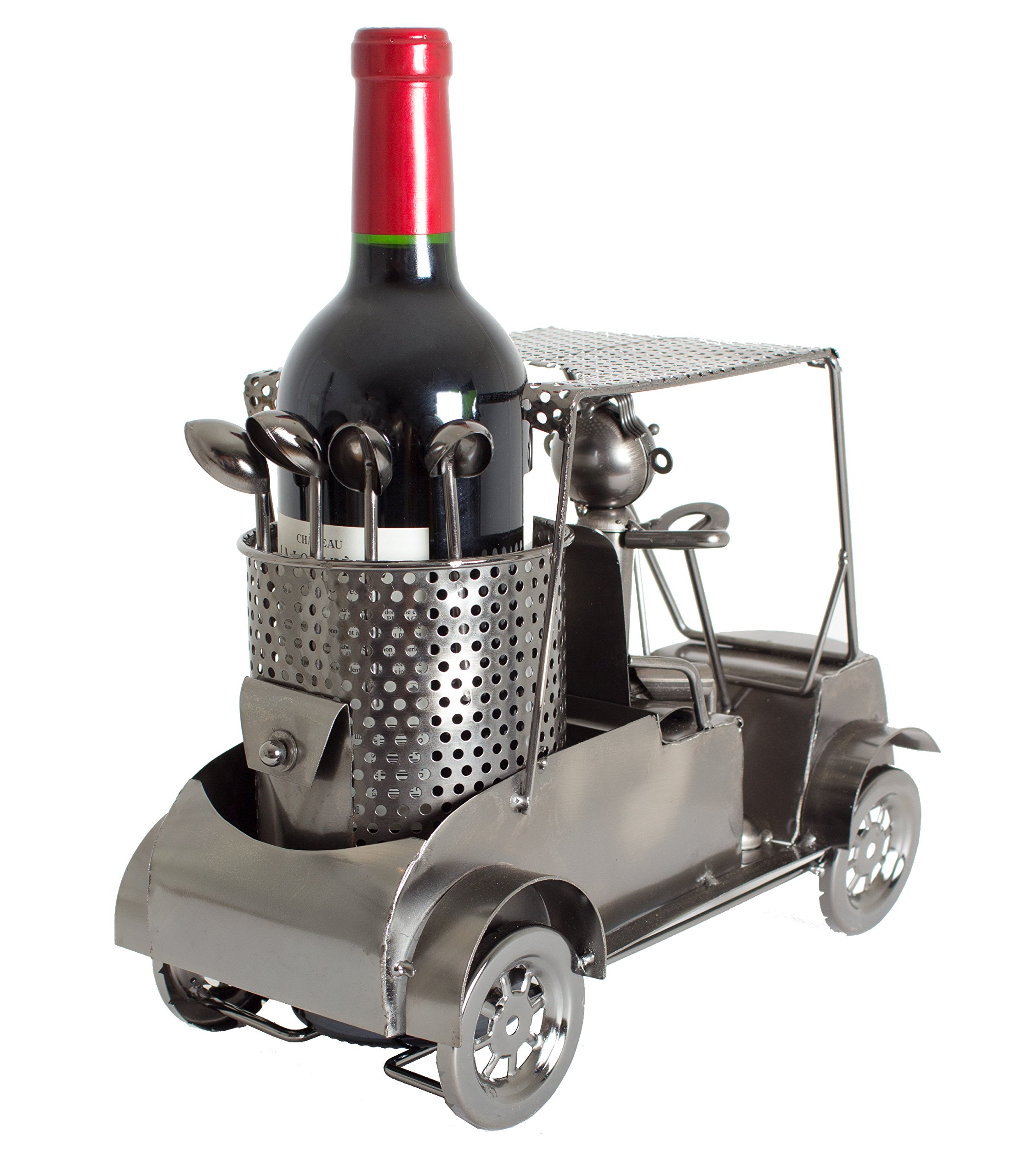 BRUBAKER Wine Bottle Holder Statue Golfer in A Golf Cart Sculptures and Figurines Decor & Vintage Wine Racks and Stands Gifts Decoration by BRUBAKER (Image #2)