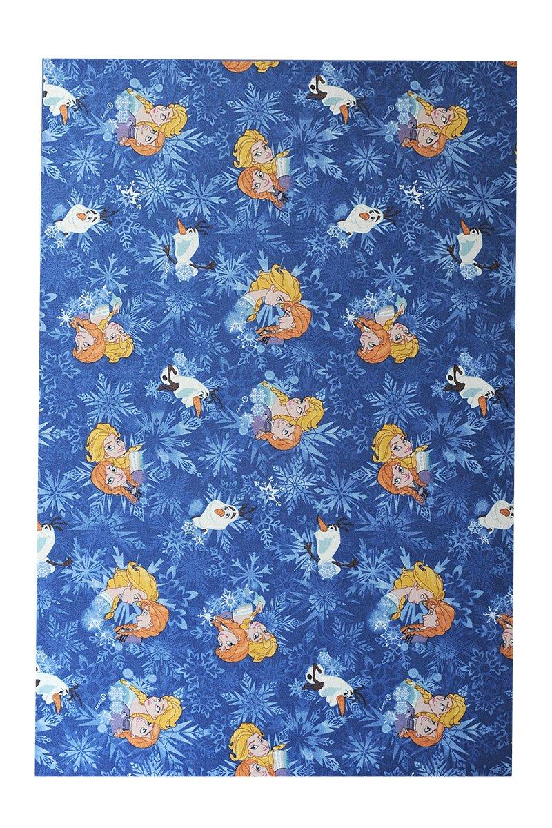 Havatex Kinderteppich Disney Eiskönigin Frozen - pflegeleicht robust und strapazierfähig   schadstoffgeprüft   Schlafzimmer Kinderzimmer Spielzimmer, Farbe Blau, Größe 240 x 240 cm