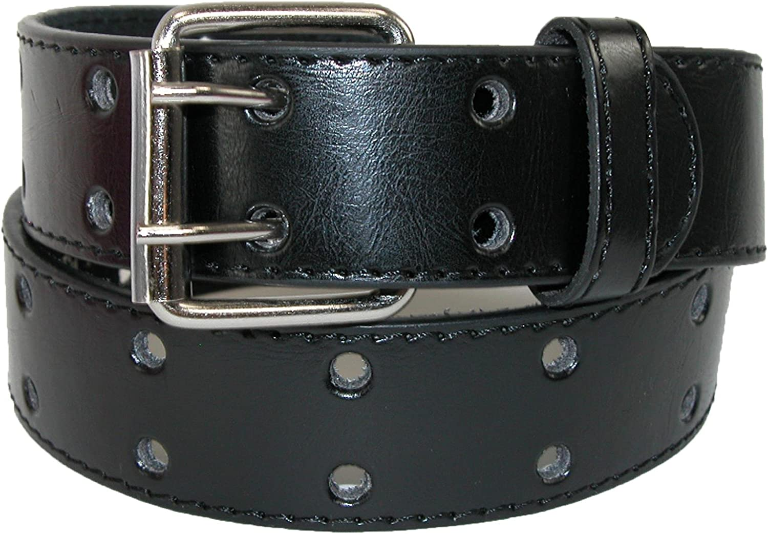 CTM Kids Leather Two Hole Jean Belt