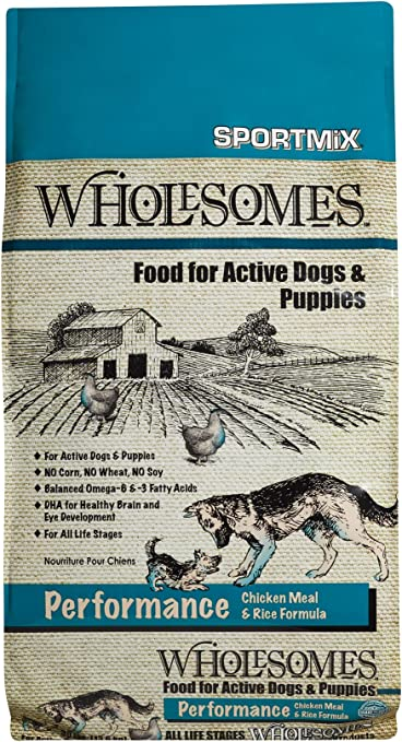 Wholesomes Performance Chicken Meal and Rice Dry Dog Food   Amazon