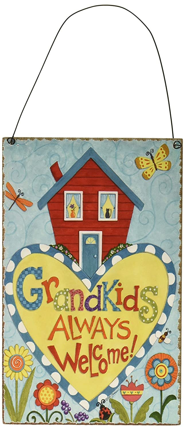 Blossom Bucket Grandkids Welcome Wall Box Sign
