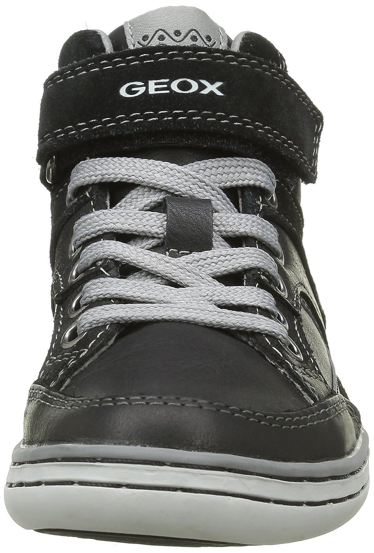 Geox Garcia A, Sneakers Hautes Garçon, Braun (DK Brown/BEIGEC6233), 33 EU