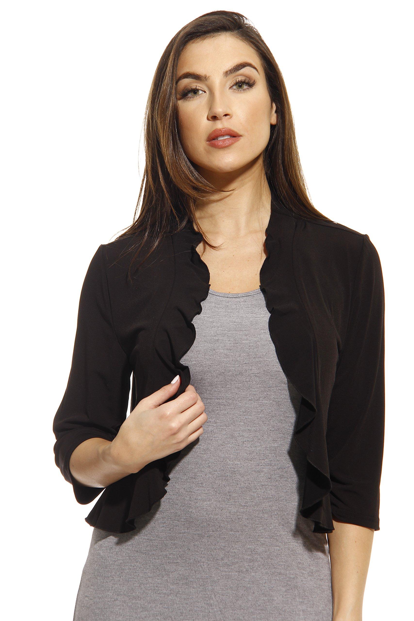 401572-BLK-1X Just Love Plus Size Shrug / Women Cardigan