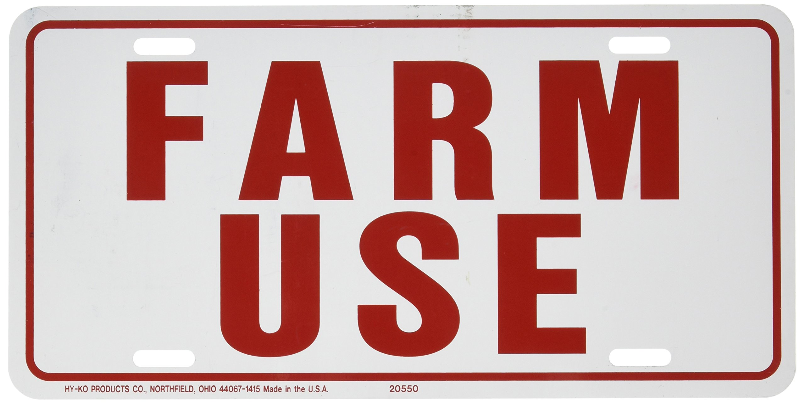HY-KO 361951 Farm Use Id Tag White/Red, 6(h) x 12(w) -Inches