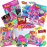 Trolls Easter Basket 20 Pc Kit, Easter Eggs, Easter Candy, Three Trolls Coloring Books, Trolls Puzzle, Trolls Jelly Belly Jelly Beans, Crayons, Pink Easter Grass, and more Dreamworks Trolls Easter!