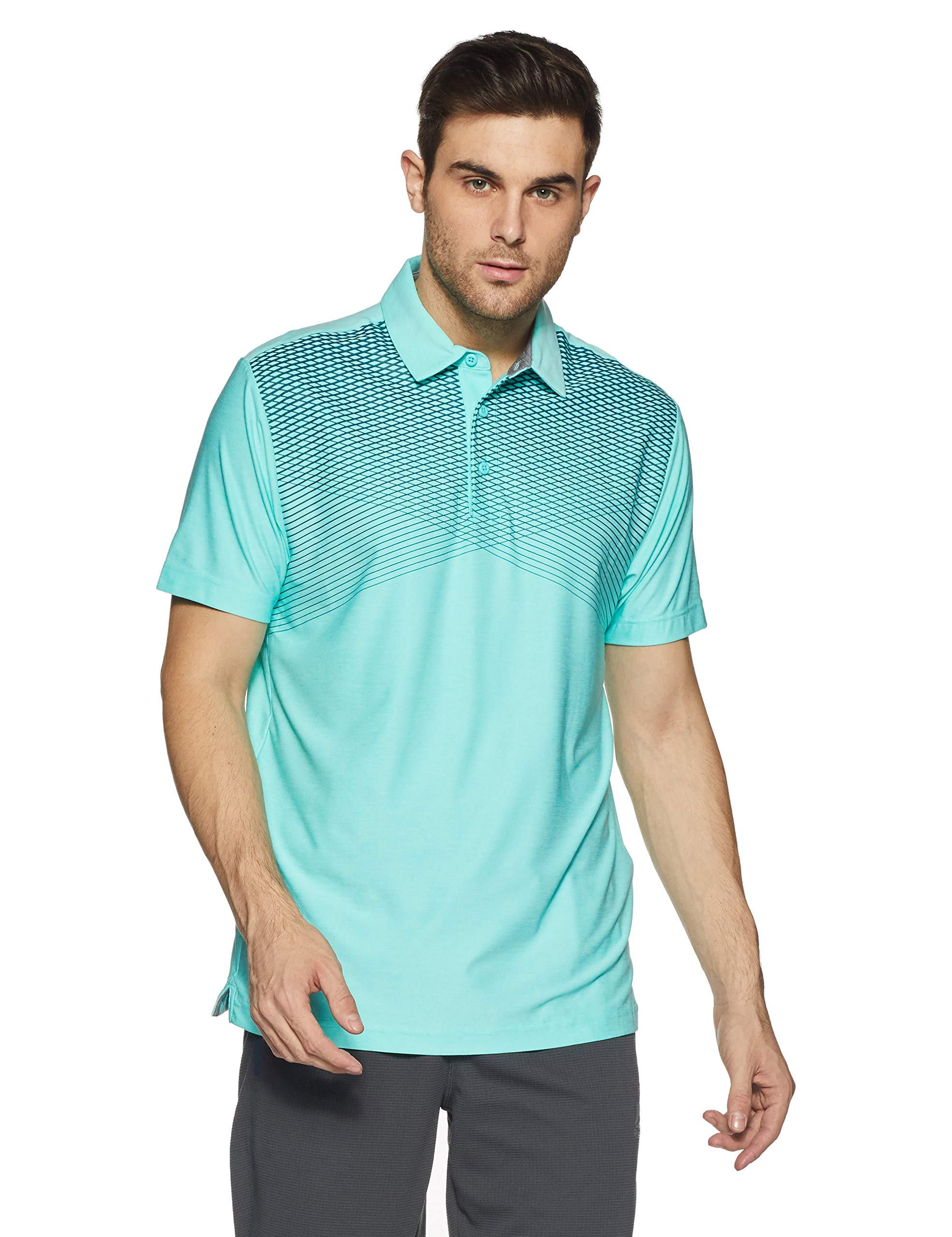 Under Armour Men's Playoff Polo, Tropical Tide (435)/Rhino Gray, X-Small
