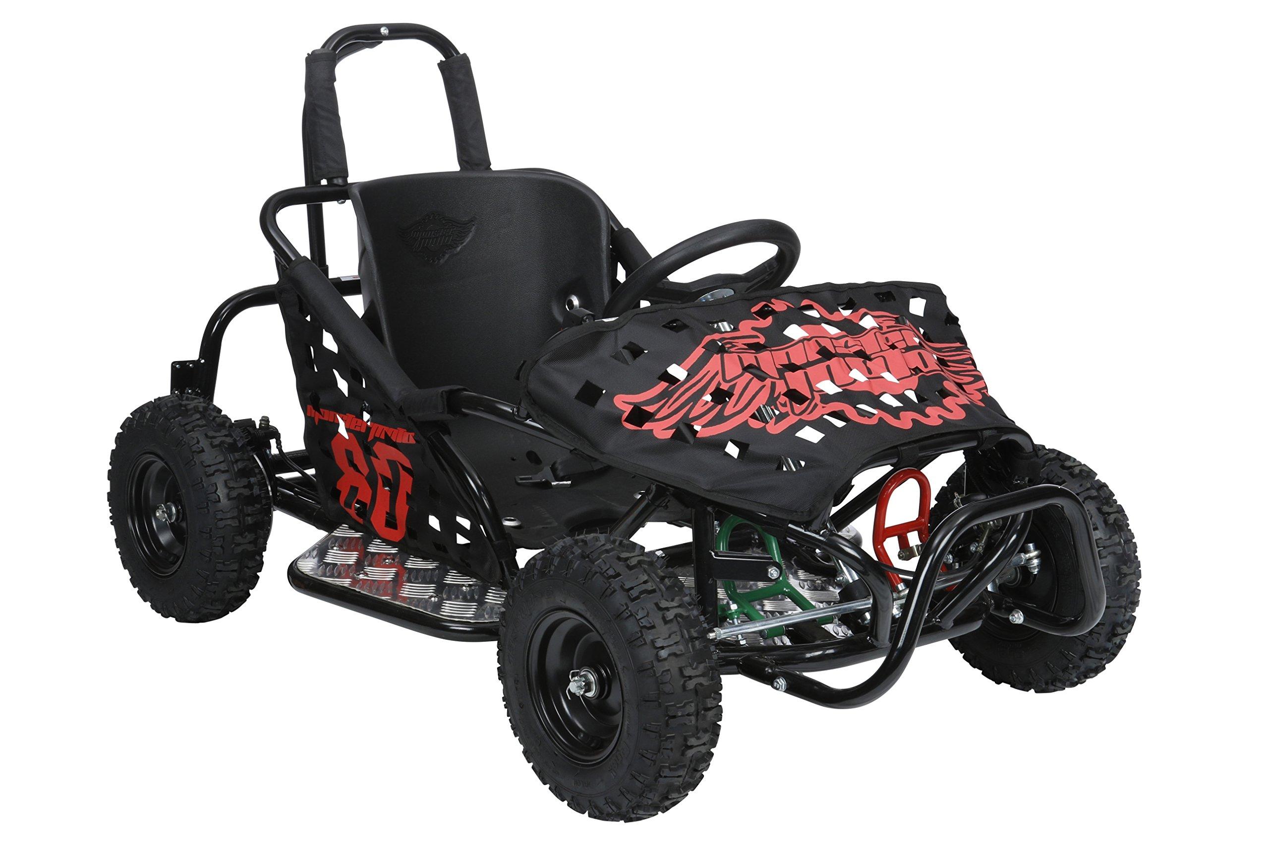 Monster Moto MM-K80-BR Black Frame with Red Graphics Go Kart by Monster Moto (Image #2)
