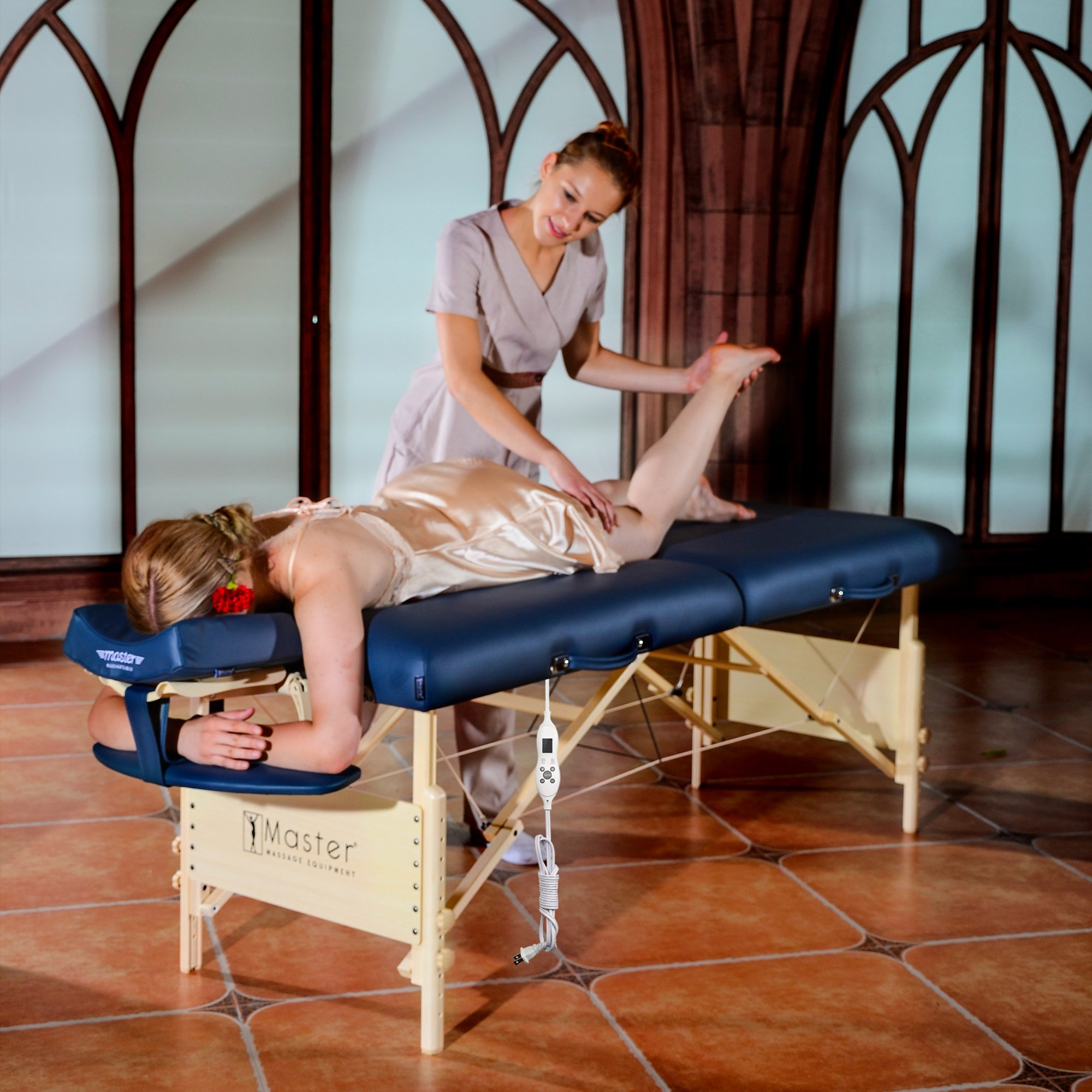 Master Massage 30'' Coronado Therma Top LX Portable Massage Table Package, Royal Blue by Master Massage (Image #3)