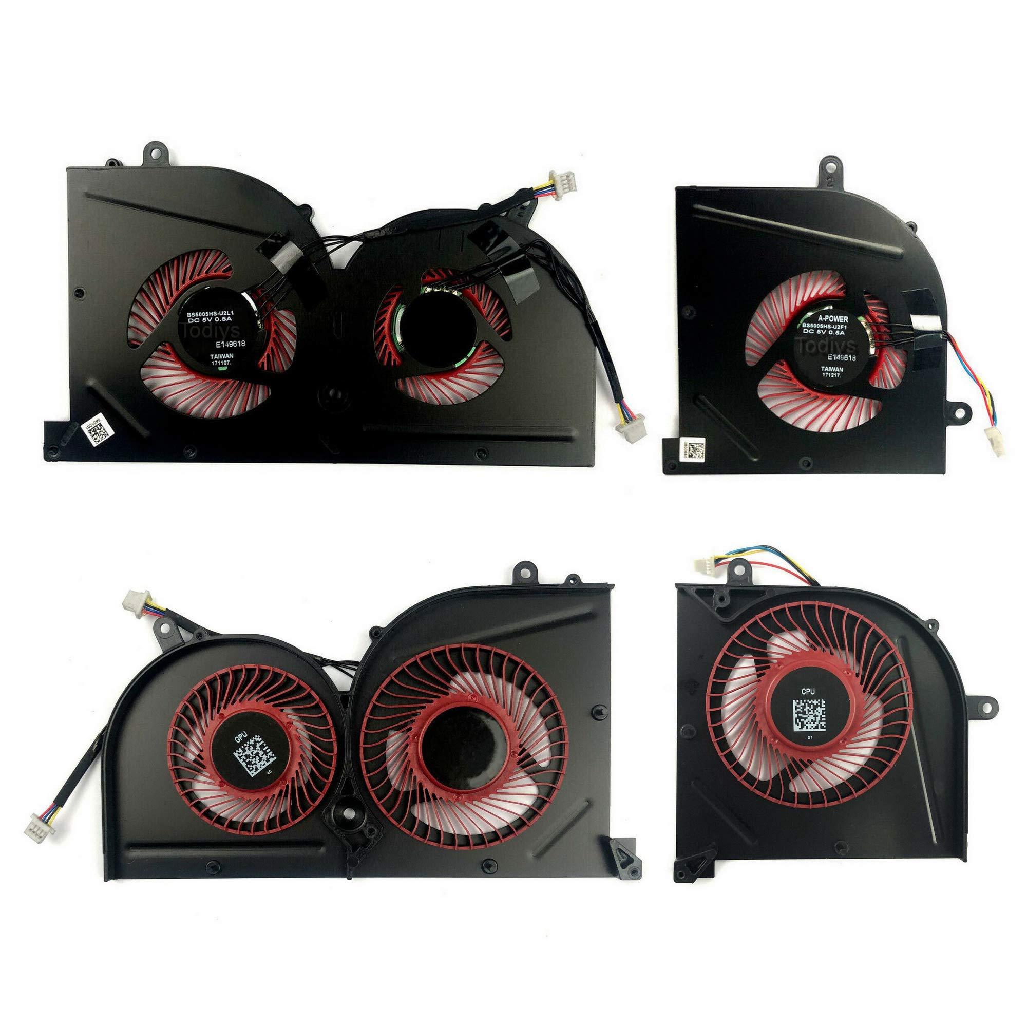 Ventilador CPU GPU MSI GS63VR 7RF Stealth Pro Series 7RF-202US 7
