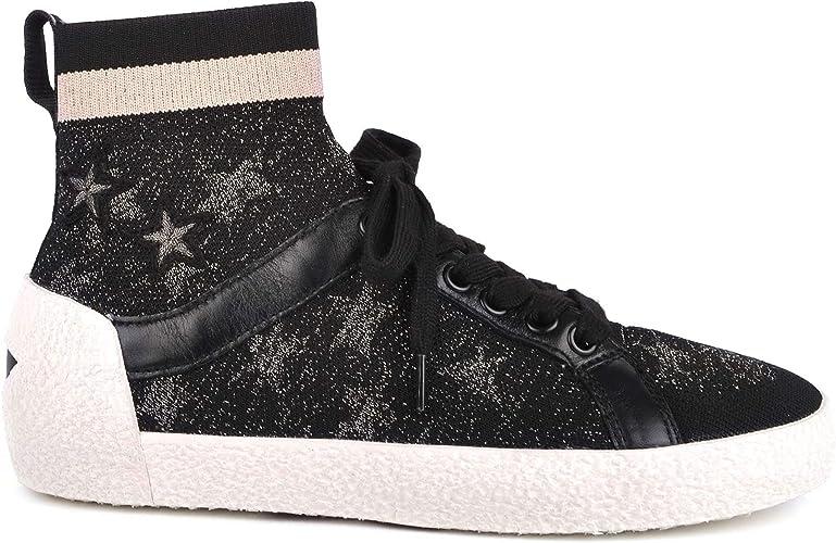 Amazon.com | Ash Footwear Ninja Star Black Knit with Star ...