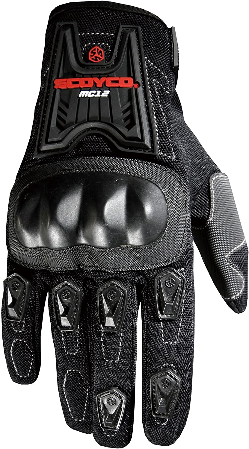 Motorcycle Gloves Full Finger Motorbike Bike Racing Sports Black Anti Skid