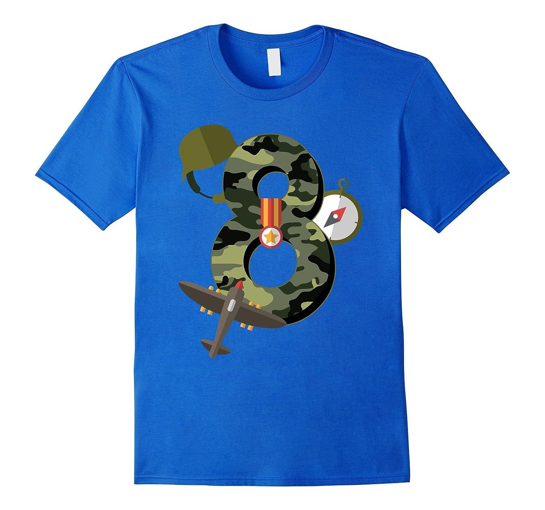 72e89228 8th Birthday Camouflage Hero Army Soldier T-shirt-TH - TEEHELEN