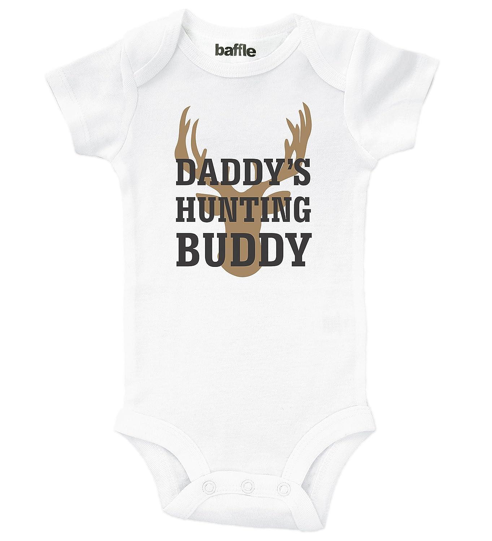 15ed79f2e92b5 Amazon.com: Baffle Baby / Daddy's Hunting Buddy / Funny Outdoor Clothing  for Babies Unisex: Clothing