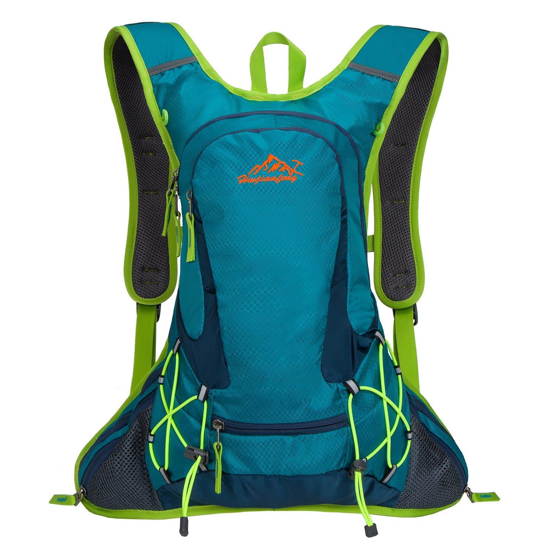 SHTH Ultraleicht Fahrradrucksack Wasserdicht mit Regenschutz 15L Trinkrucksack Fahrrad Sportrucksack Radsport Rucksack für Herren/Damen (Blau) z1601