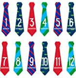 Pearhead Baby Milestone Baby Belly, Tie First Year Keepake Stickers (Red/Blue)