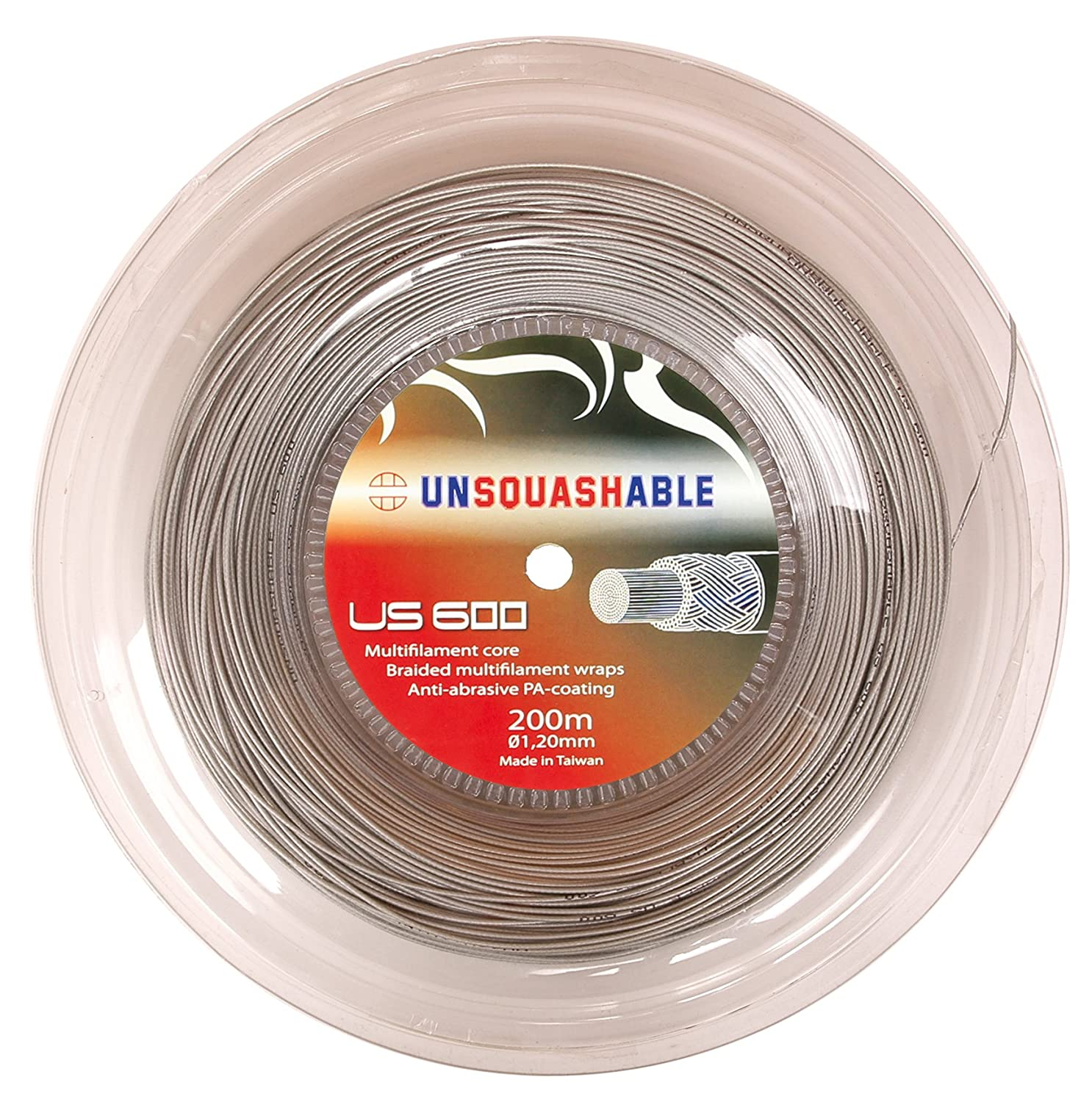 Unsquashable Power US 600 - Cuerda para raquetas de squash (200 m), color plateado 381203